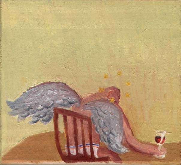 Oliver Wetterauer o.T. (Das Rotweinglas) // Untitled (The glass of red wine)